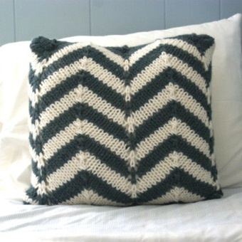 Chevron Knit Pillow Sham , no pattern