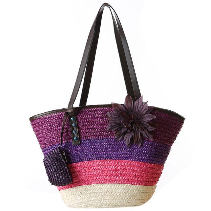 $8.21 (Buy here: https://alitems.com/g/1e8d114494ebda23ff8b16525dc3e8/?i=5&ulp=https%3A%2F%2Fwww.aliexpress.com%2Fitem%2FKnitted-Straw-bag-Summer-flower-Bohemian-fashion-women-s-handbags-color-stripes-shoulder-bags-beach-bag%2F32757617777.html ) Knitted Straw bag Summer flower Bohemian fashion women's handbags color stripes shoulder bags beach bag big tote bags for just $8.21