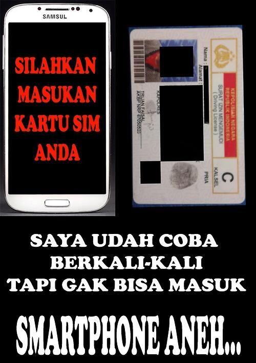 Smartphone dan kartu SIM....