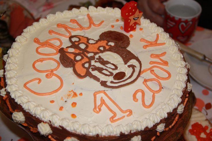 """мой торт """"минни маус"""" в домашних условиях  Minnie Mouse cake"""