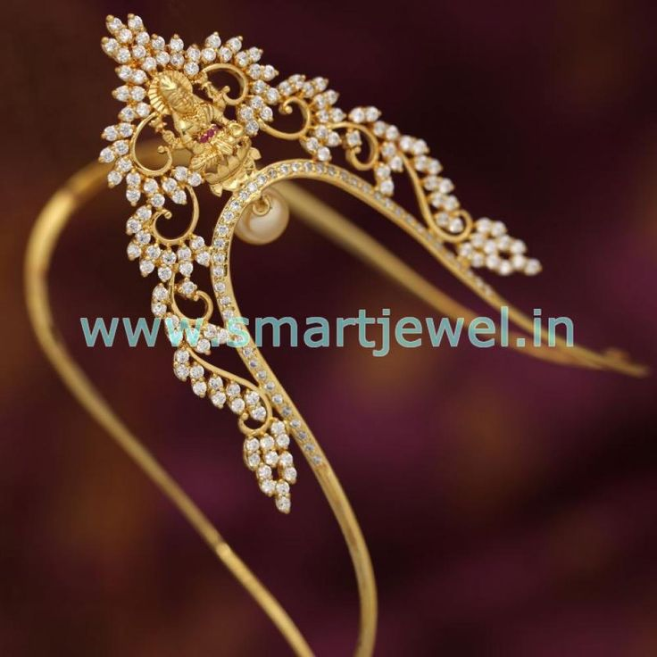 SAR2986 Temple CZ Latest Gold Design Traditional Aravanki Armlet Buy Online…