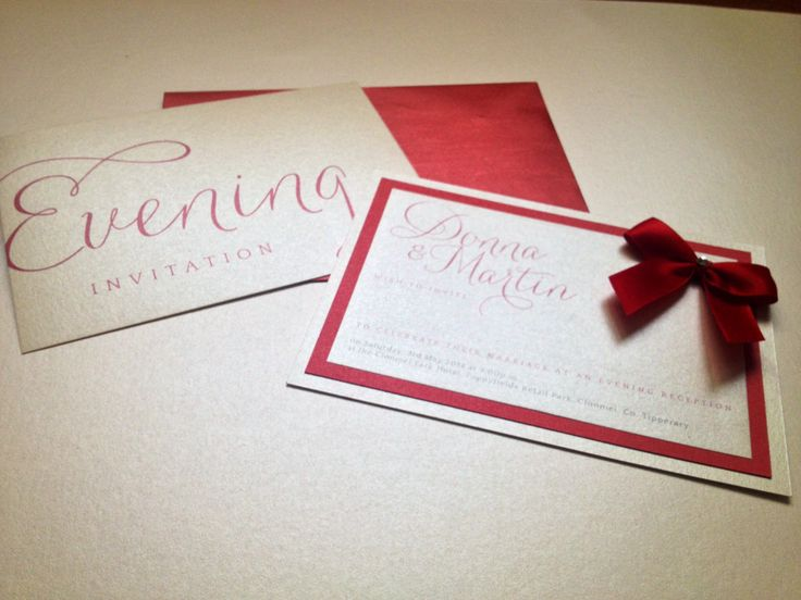evening invite design