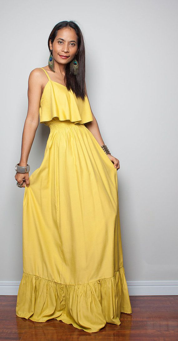 Evening Dress Yellow Cocktail Dress Sunny Dreams by Nuichan