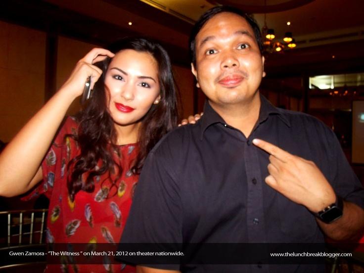 """with Gwen Zamora - """"The Witness"""" GMA Films"""