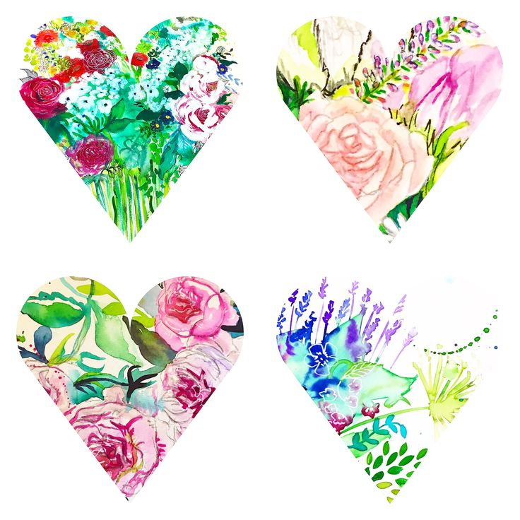 Carol Clough little hearts, blooms