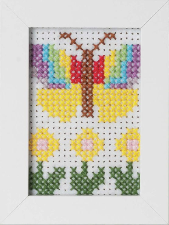 Butterfly Felt Cross Stitch Kit With Frame £7.75 | Past Impressions | Groves