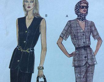 Vogue Amerikaanse ontwerper 1527 DNKY broek pak grootte