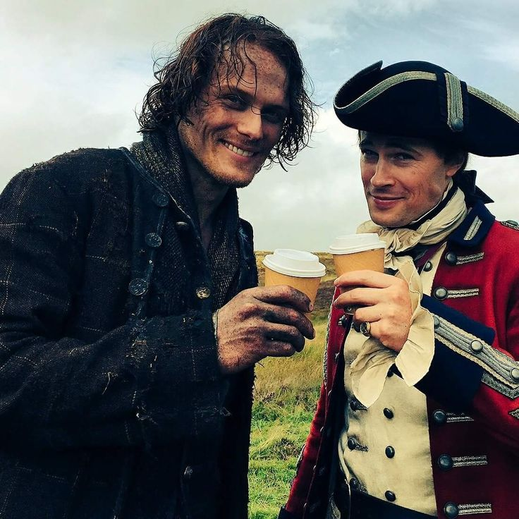 Jamie Fraser and Lord John Grey. ....what a smile