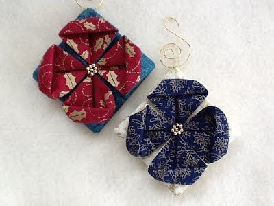 1000+ images about Folded fabric craft on Pinterest