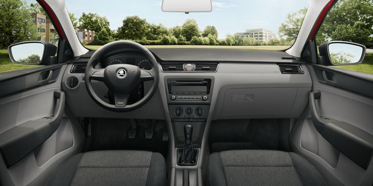 skoda rapid black interior