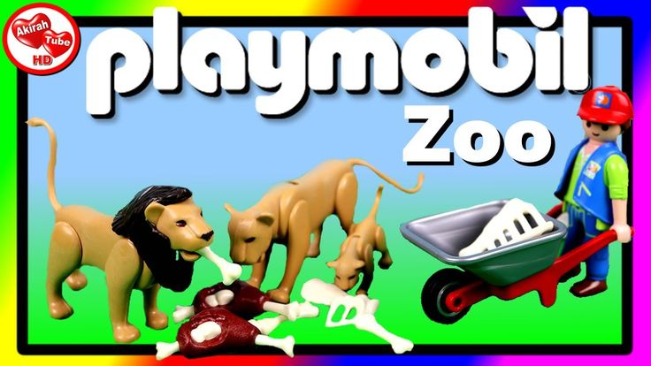 😃💚 Playmobil City Life Zoo, Toy Animals, Zoo Animals, Animal Toys For Ki...