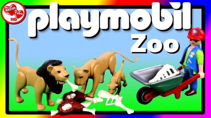 😃💚 Playmobil City Life Zoo, Toy Animals, Zoo Animals, Animal Toys For Ki...