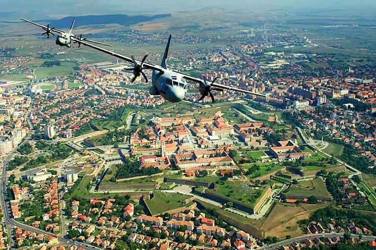 Alba Iulia Citadel, Romania - sacred land. The place where, in 1600, the Romanians united in a single country. Credits Adrian Dulau & Romanian Air Forces