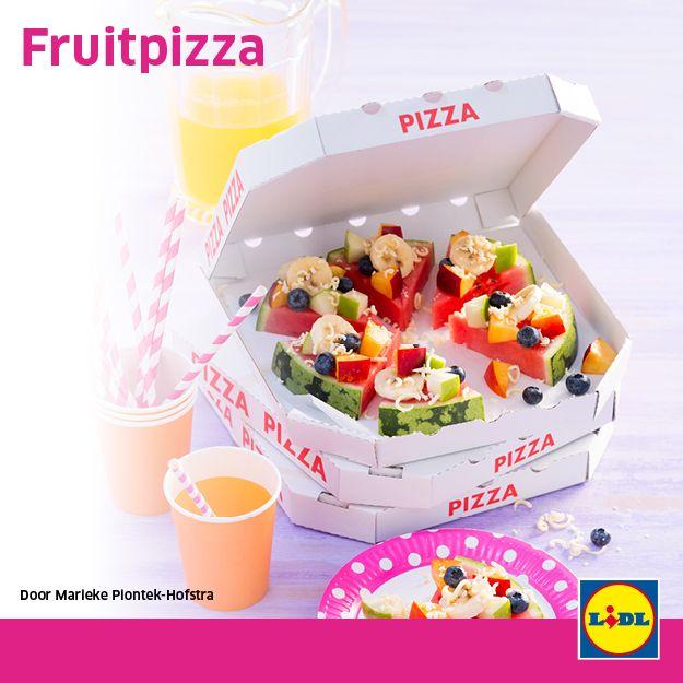 Fruitpizza #traktatie #backtoschool #Lidl #pizza
