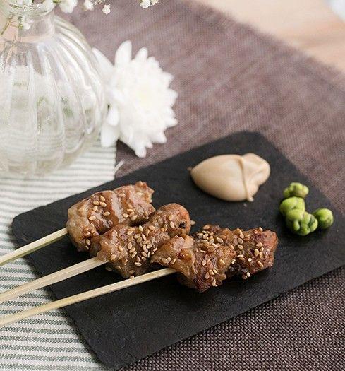 brocheta de pollo yakitori