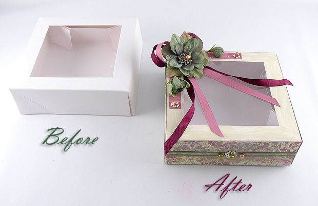 Decorated Cookie Box