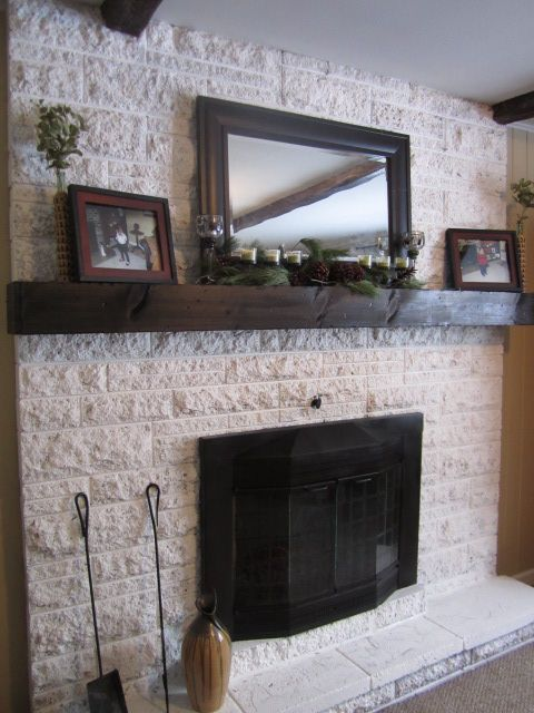 Best 20 resurfacing cabinets ideas on pinterest diy for Brick fireplace white mantle
