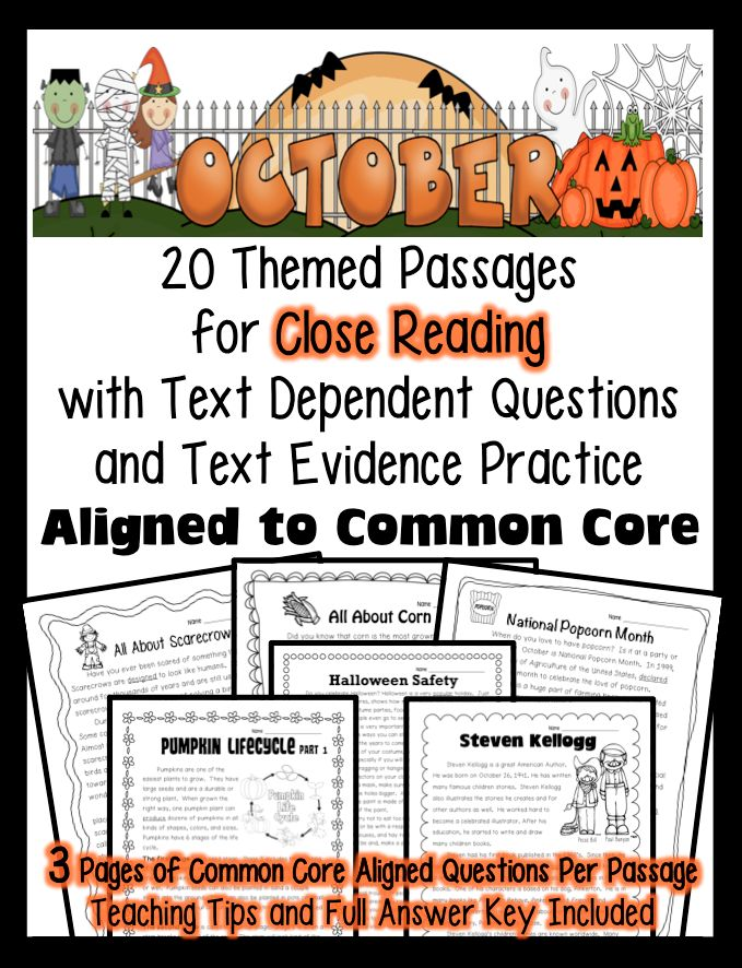24/7 Teacher: Freebie Friday & Five for Friday Featuring: October Close Reading Unit
