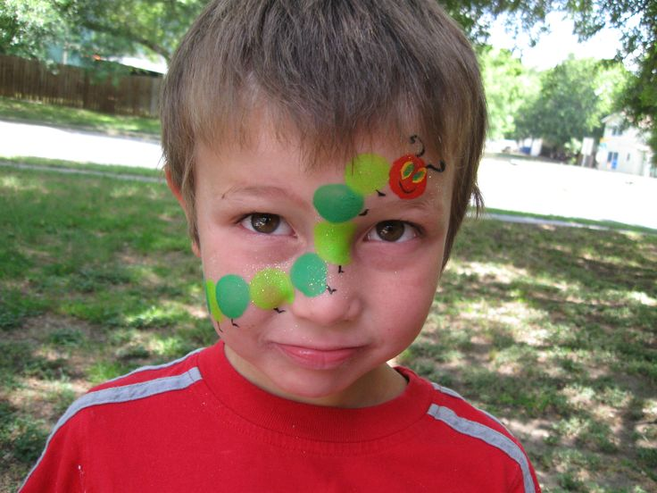 Face Paints | Eye, Fish, Very Hungry Caterpillar and Fire Works Face Paint Designs ...