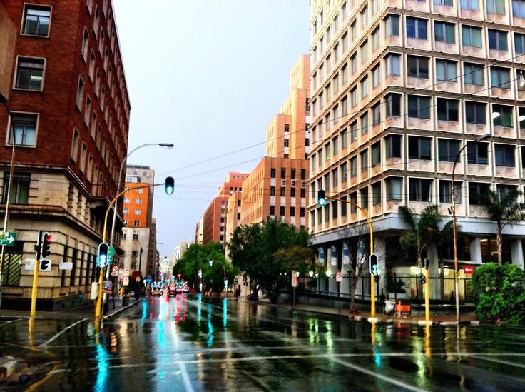 Joburg street just after the rain @Joanne Burgess Tourism