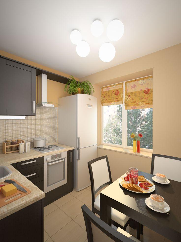 Дизайн кухни 6 кв.м. (45 фото). Ремонт, интерьер кухни 6 кв.метров