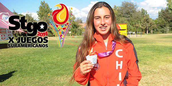 Valentina González, medalla de Oro para Chile, esquí naútico (salto), Juegos Suramericanos Santiago 2014