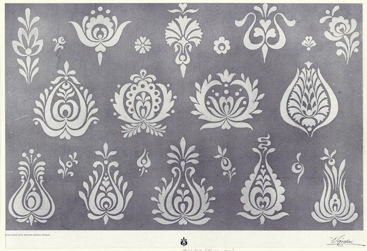 Hungarian motifs - ideas for embroidery.