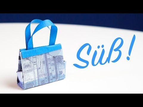 Bargeld Geschenkidee, Handtasche falten zum Geburtstags-Shopping - YouTube