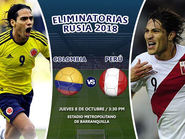 Perú jugará ante su similar de Colombia por la primera fecha de las Eliminatorias al Mundial de Rusia 2018 ¡Conoce la hora y fecha del debut blanquirrojo!