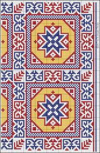 Gallery of Free Middle Eastern Patterns for Blackwork, Pattern Darning & Counted Needlework