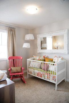 Super cute, vintage, colorful, girly and chic baby girl nursery! Nursery ideas, bright nursery, vintage nursery, boho nursery