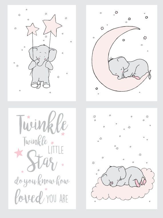 Elephant Printable Nursery SetElephant Nursery by GABBIKprint
