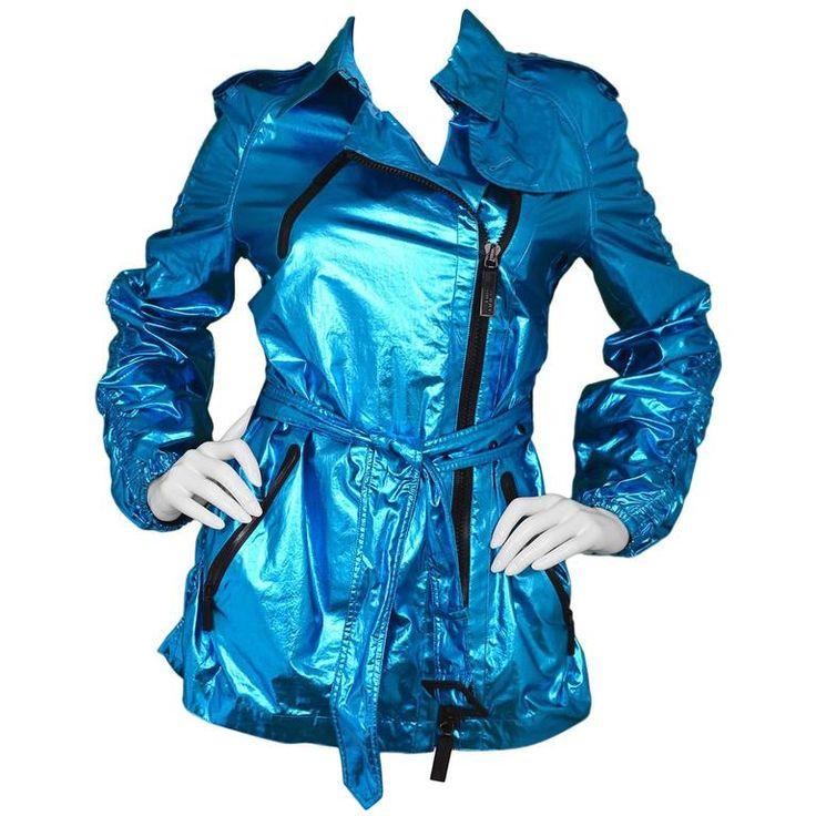 Burberry Sport Metallic Blue Trench Coat