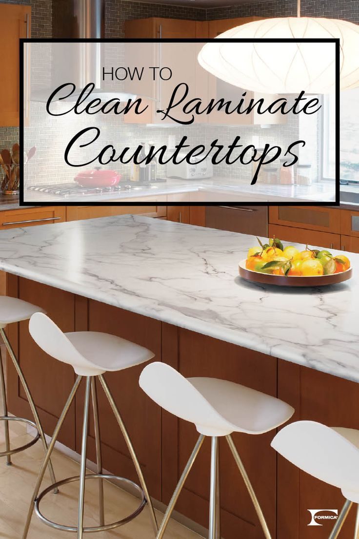 Wondering how best to clean your laminate countertops