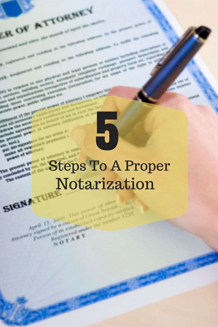 Need a quick refresher on how to perform a proper notarization?