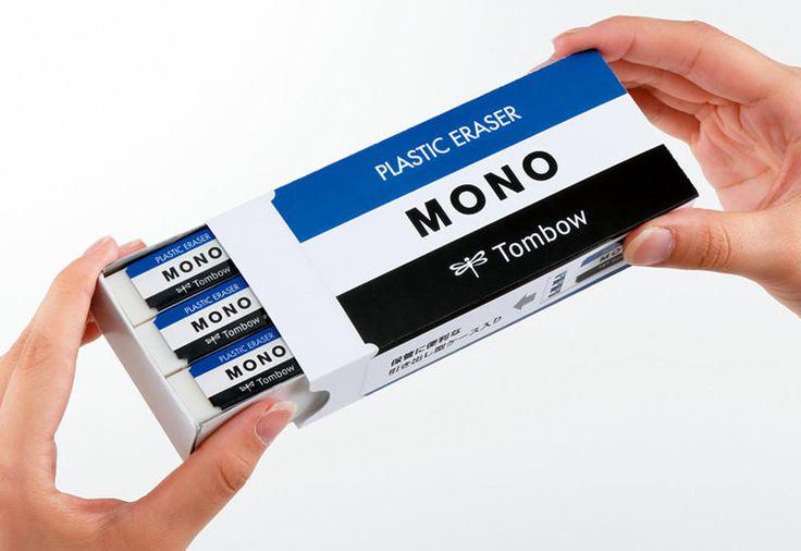【新製品】MONO型紙箱に消しゴム18個入り! トンボ鉛筆「MONO・box」
