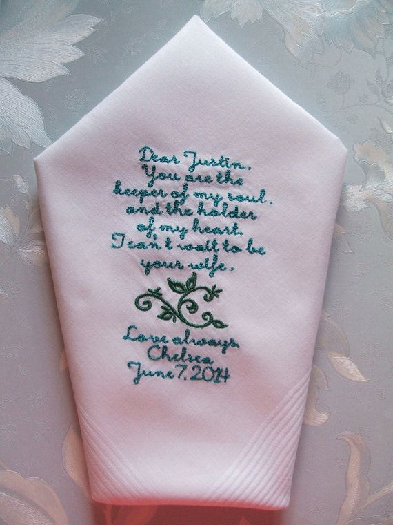 GROOM+gift+from+BRIDE+Custom+Embroidered+by+mrsstitchsboutique,+$24.95