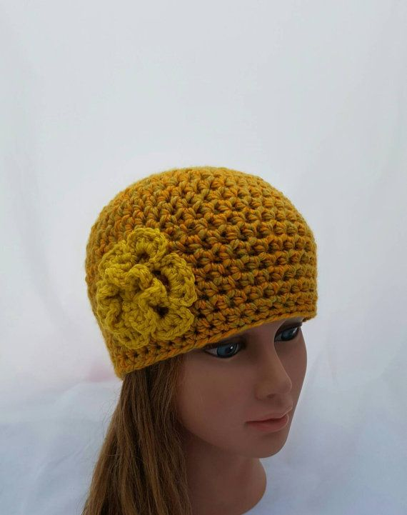 Check out this item in my Etsy shop https://www.etsy.com/ca/listing/483325637/womens-crochet-hat-ladies-flower-beanie