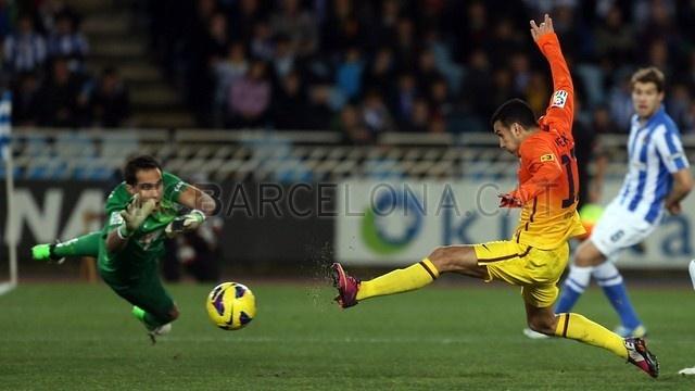 Pedro, FC Barcelona | Real Sociedad 3-2 FC Barcelona. [2013-01-19]