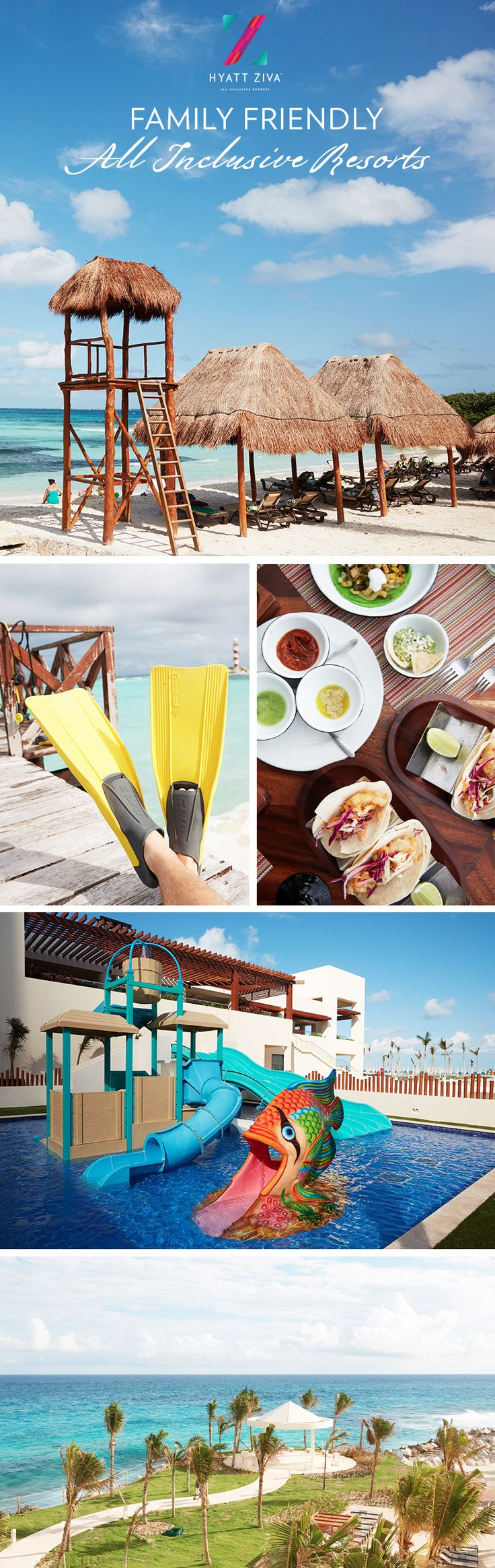 Book a getaway to Hyatt Ziva Cancun and experience an all inclusive vacation the whole family will remember.
