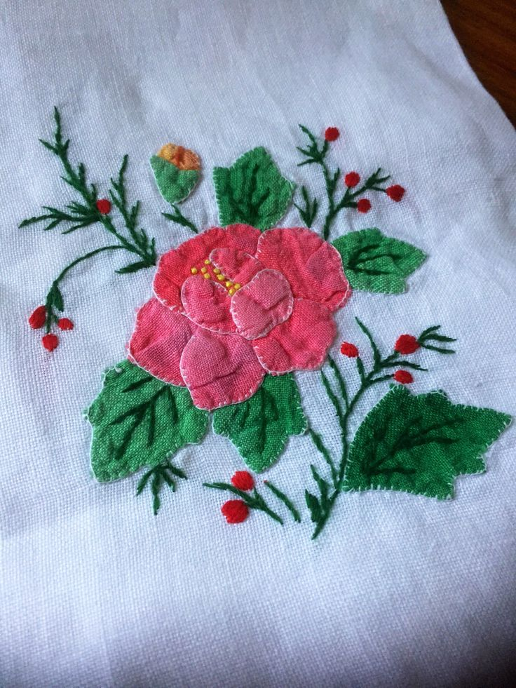 Vintage French linen/hand towel/patchwork/embroidered/linen/flowers by WifinpoofVintage on Etsy
