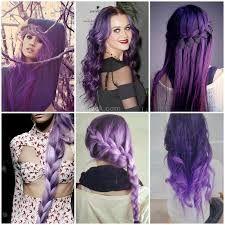 dip dye hair purple - Google Search