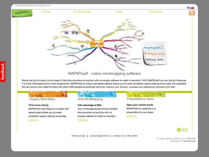 free web based organic buzan like mind mapping software mapmyself mapul mind mapping tools pinterest mapping software and mind mapping tools - Web Based Mind Mapping Free