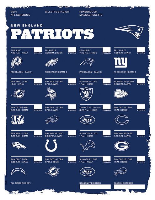 Can't wait to go see them in December playing against the Chargers :)