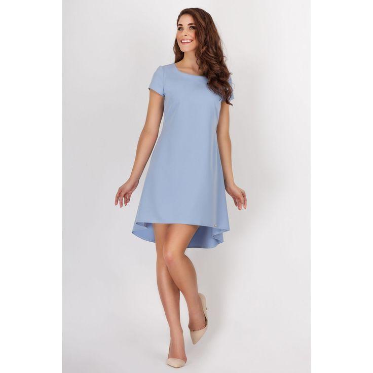 Rochie albastra uni eleganta asimetrica lejera  #rochiicasualelegante #rochiielegantedeseara
