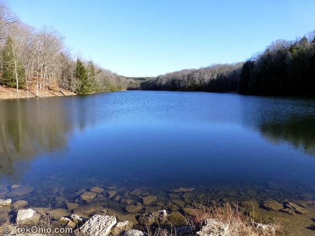 Rose Lake during the 2013 Hocking Hills Winter Hike