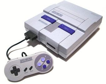 Super Nintendo Console With AC and AV Cables And One Controller (Replacement Console Also Available)