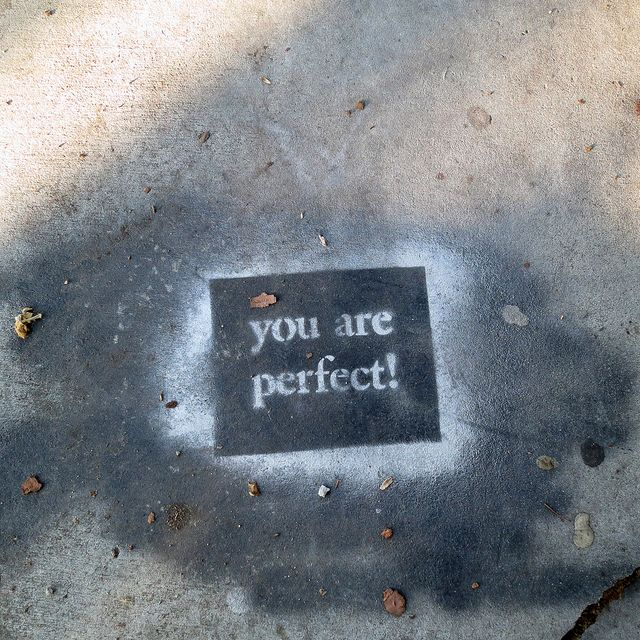 Positive Affirmation Stenciled Street Art in Venice, California