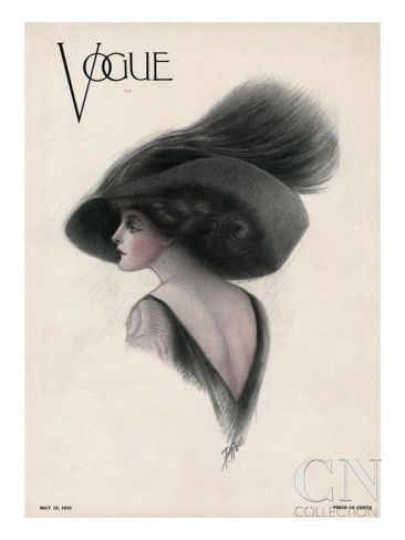 vogue covers 1910s | Vogue Cover - May 1910 Poster Print by F. Rose at the Condé Nast ...