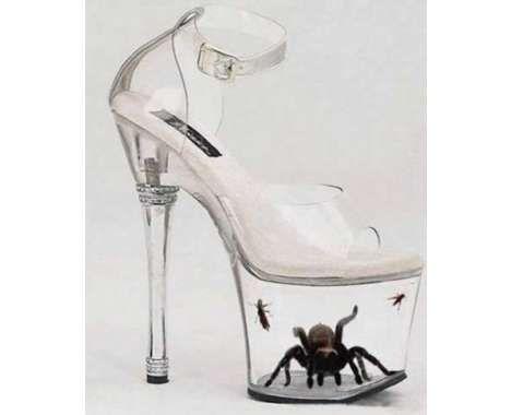 Туфли прозрачные на платформе